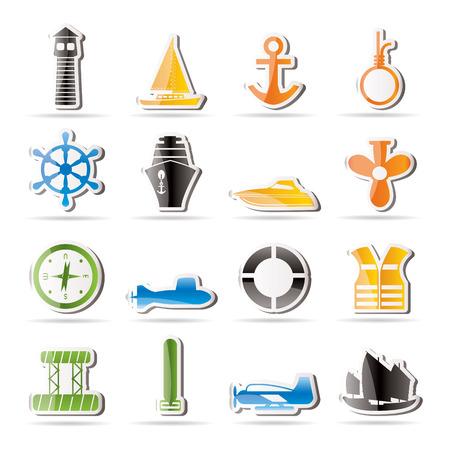 Simple Marine, Sailing and Sea Icons