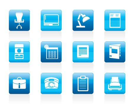 Simple Business, office and firm icons - icon set