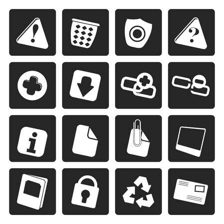 Black Web site and computer Icons - Vector Icon Set: Royalty-free
