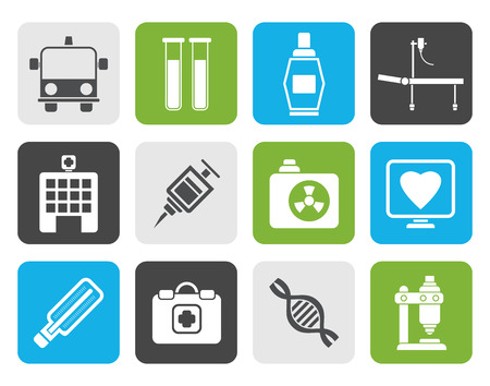Flat Medicine and healthcare icons - icon set