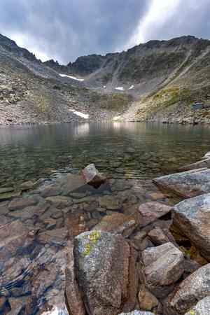Landscape with Rila Mountain, Ledenoto (Ice) lake and Musala Peak, Bulgaria