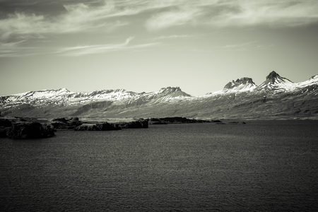 Photo for Beautiful multicolored spring landscape of Iceland. Toned. - Royalty Free Image