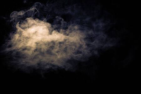 Photo for Jet of smoke on black background. Selective focus. Toned. - Royalty Free Image