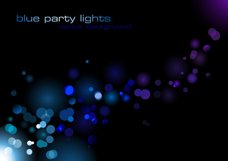 abstract vector background with blurry blue lights