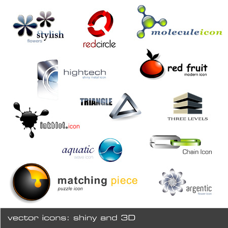 set of 12 vector icons