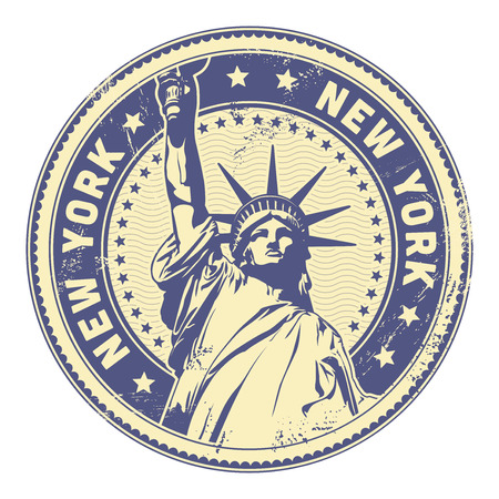grungy New York stamp  textures removable