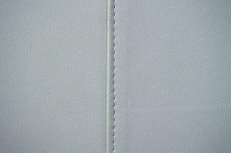 Photo pour White textured leather in detail - image libre de droit