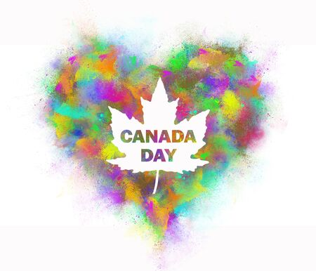 Foto de The inscription Canada Day from the spray of colored paint. - Imagen libre de derechos
