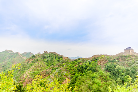 View on great wall by Jinshanling in China