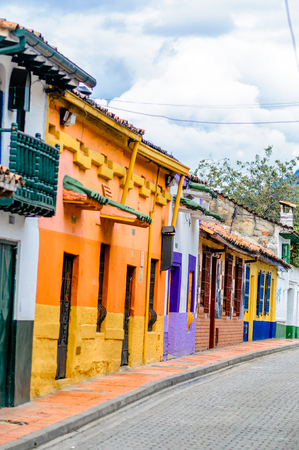 View on colorful colonial buildings in Bogota