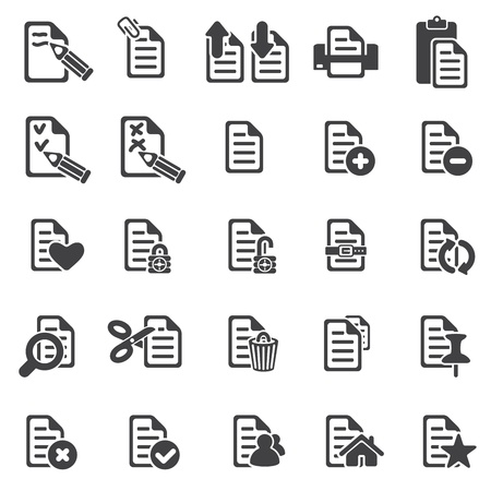 set of files icons
