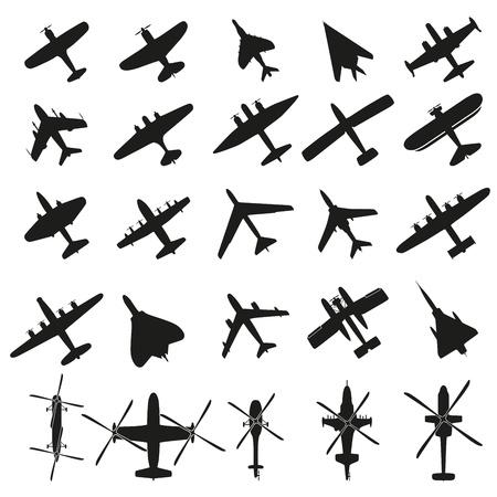 Ilustración de Icons set Airplanes - Imagen libre de derechos