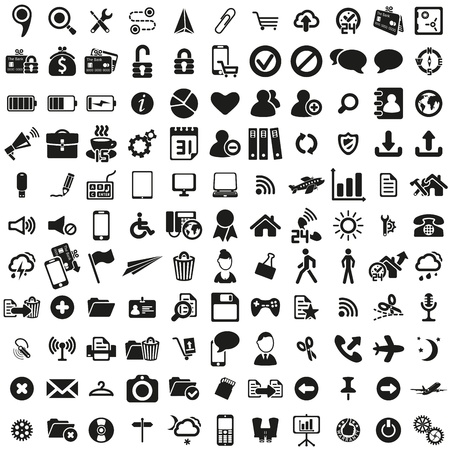 Illustration pour universal web icons set - image libre de droit