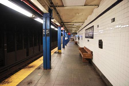 Photo pour New York / United States - 01 Jul 2017: Metro in New York city of United States - image libre de droit