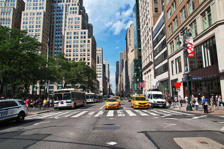Photo pour New York / United States - 30 Jun 2017: The street in New York city, United States - image libre de droit