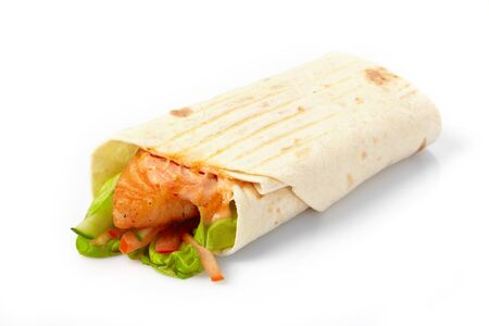 tortilla with fish and vegetables