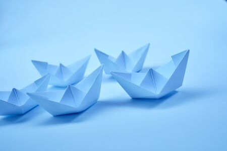Photo for Paper boats - Royalty Free Image