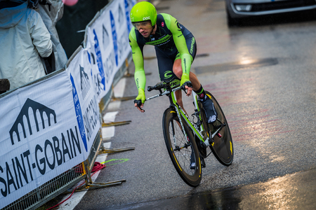 Valdobbiadene, Italy May 23, 2015; Professional cyclist During the fourteenth stages of the Tour of Italy in 2015.