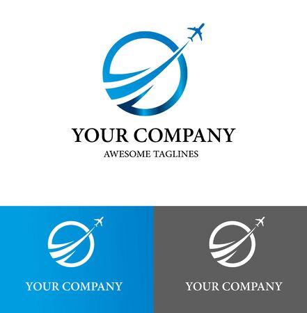 Illustration pour Business Airplane Logo Design Template. Flat Style Design. Vector Illustration - image libre de droit
