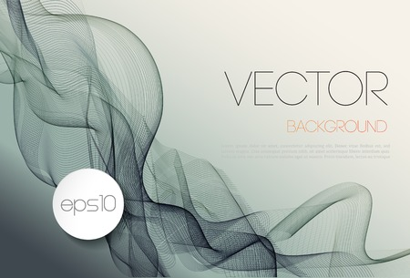 Illustration for Vector Abstract wave template  background brochure design - Royalty Free Image