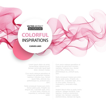 Illustrazione per Vector Abstract smoky waves  background. Template brochure design - Immagini Royalty Free