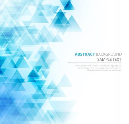 Photo pour Abstract geometric background with transparent triangles. Vector illustration. Brochure design - image libre de droit