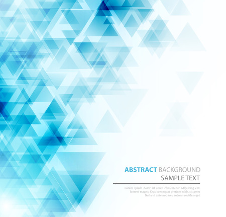 Ilustración de Abstract geometric background with transparent triangles. Vector illustration. Brochure design - Imagen libre de derechos