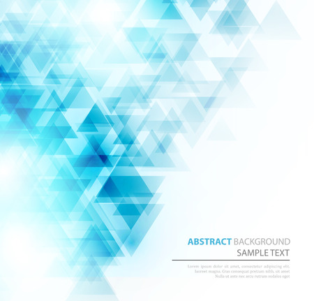 Ilustración de Abstract geometric background with transparent triangles. Vector illustration. Brochure design - Imagen libre de derechos