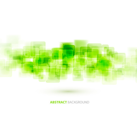 Illustration pour Green  shiny squares shapes technical background. Vector technology design - image libre de droit