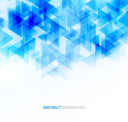 Ilustración de Blue shiny triangle shapes technical background.  - Imagen libre de derechos
