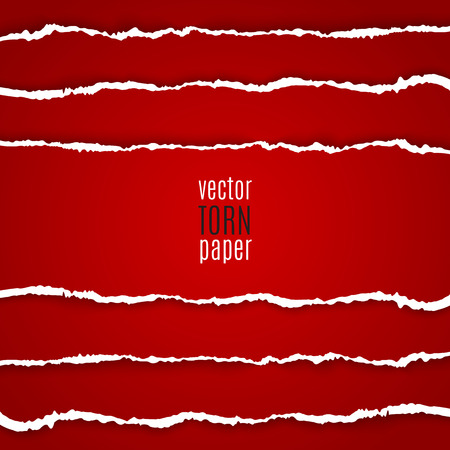 Vector illustration red torn paper. Template background