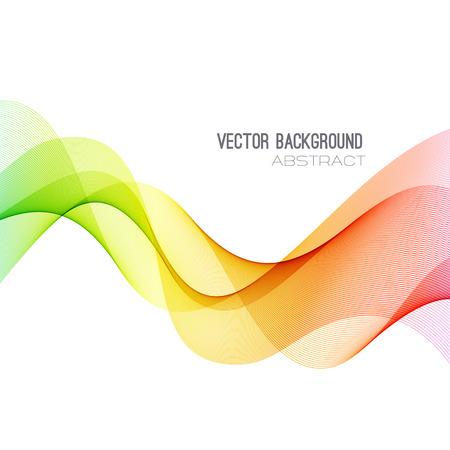 Illustration pour Vector Abstract spectrum curved lines background. Brochure design. Colorful wave - image libre de droit
