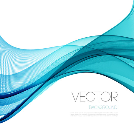 Foto de Blue Smooth wave stream line abstract header layout. Vector illustration - Imagen libre de derechos