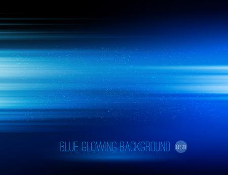 Ilustración de Vector abstract horizontal energy design blue color on dark background - Imagen libre de derechos