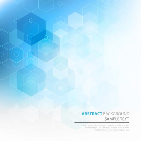 Vector Abstract sciense Background. Hexagon geometric design. EPS 10