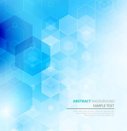 Foto de Vector Abstract sciense Background. Hexagon geometric design. EPS 10 - Imagen libre de derechos