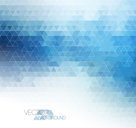 Abstract blue light template background with triangle patternのイラスト素材