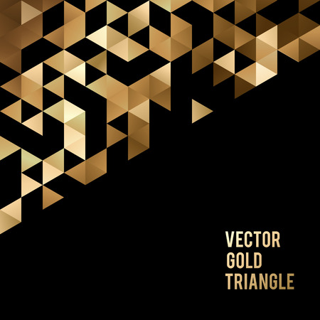 Photo pour Abstract template background with gold triangle shapes. Vector illustration EPS10 - image libre de droit