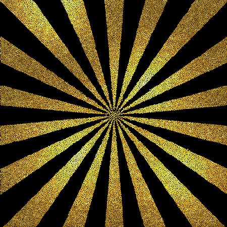 Vector black and white halftone background  Stipple effect   Gold