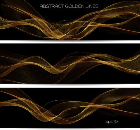Illustration pour Abstract gold luxury wave layout background. Vector illustration - image libre de droit