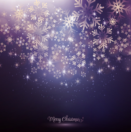 Vector illustration. Abstract Christmas snowflakes background. EPS10