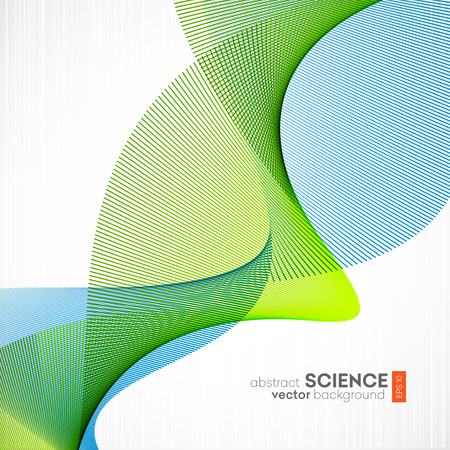 Photo for Abstract vector background, futuristic wavy illustration eps10 - Royalty Free Image