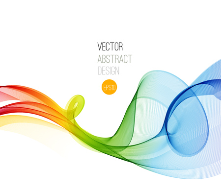 Illustration pour Abstract vector background, futuristic wavy illustration eps10 - image libre de droit