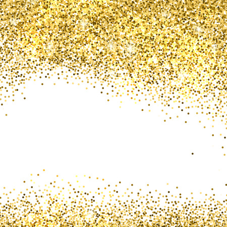 Ilustración de Gold sparkles on white background. Gold glitter background. - Imagen libre de derechos