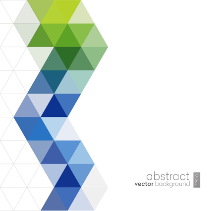 Ilustración de Vector Abstract geometric background with triangles - For business, corporate design, cover, booklet, brochure. - Imagen libre de derechos