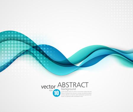 Ilustración de Abstract smooth color wave vector. Curve flow blue motion illustration - Imagen libre de derechos