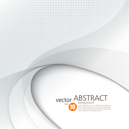 Ilustración de Abstract vector background, smooth waved lines for brochure, website, flyer design.  illustration - Imagen libre de derechos