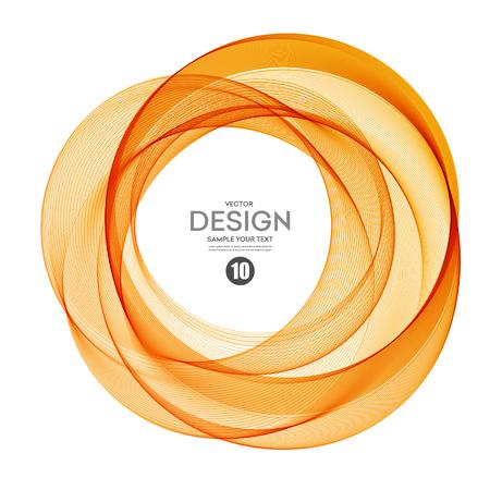 Illustration pour Abstract vector background, color  transparent ring illustration eps10 - image libre de droit