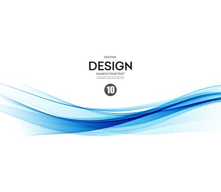 Illustration pour Abstract vector background, blue waved lines for brochure, website, flyer design.  illustration eps10 - image libre de droit