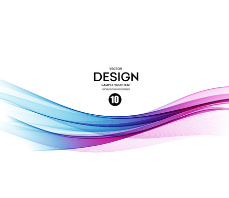 Photo pour Abstract vector background, blue and violet waved lines for brochure, website, flyer design.  illustration - image libre de droit